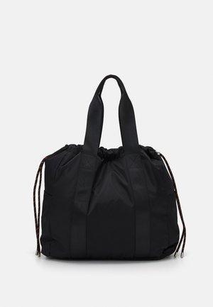 DRAWSTRING TOTE - Bolso shopping - black