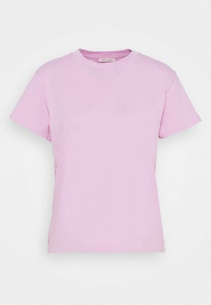 SHORT SLEEVE ROUND NECK LOGO AT BACK NECK - T-shirts - breezy lilac