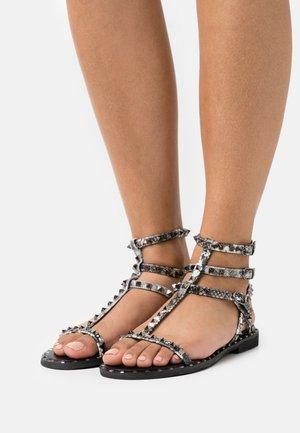 Sandals - black/white