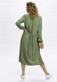 Denim Hunter - Shirt dress - oil green dot print - 2