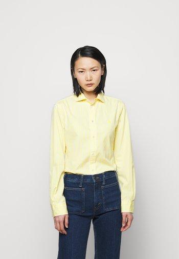 GEORGIA  - Button-down blouse - yellow/white