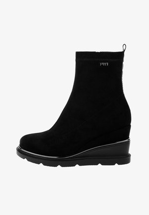 MANCINI - Wedge Ankle Boots - black