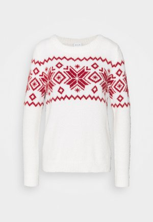 CHRISTMAS VIFEAMI ONECK - Jumper - whisper white