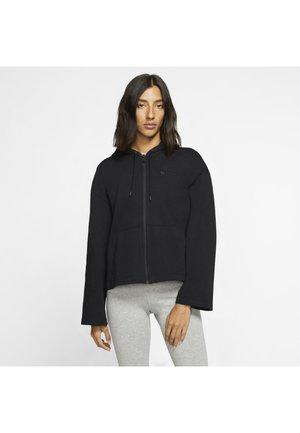 MIT DURCHGEHENDEM REISSVERSCHLUSS - Zip-up hoodie - black/dark smoke grey