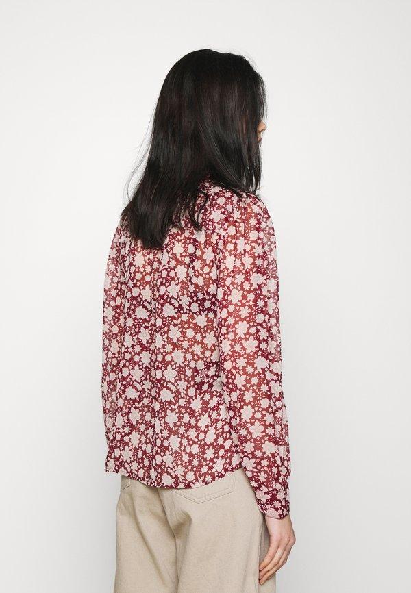 Vero Moda PLEAT - Bluzka - cabernet/ciemnoczerwony DDOR
