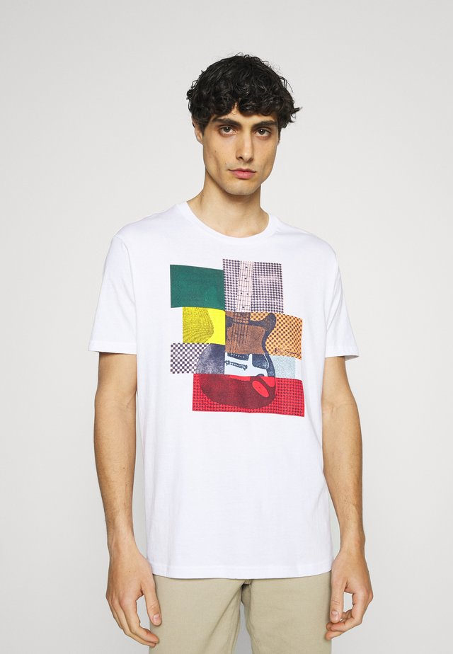 CROPPED GUITAR TEE - T-shirt con stampa - white