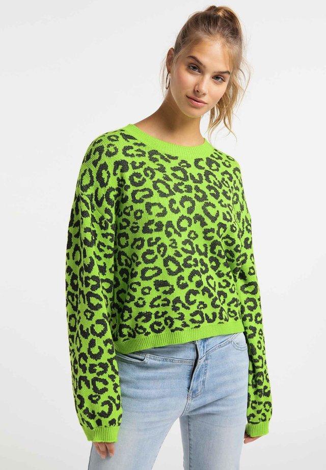 Neule - neon green