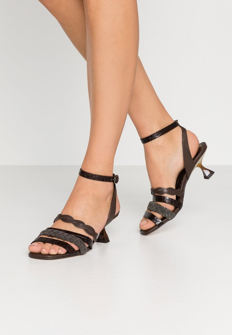 Pedro Miralles - Sandals - coco louisiana/marron nature testa