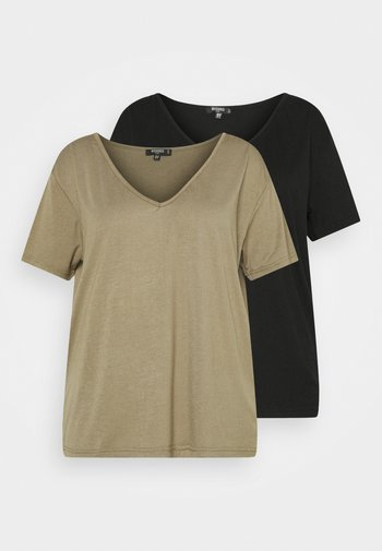 2 PACK TEE - Basic T-shirt - black