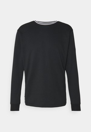 DRY CREW TOP - Stickad tröja - black/white