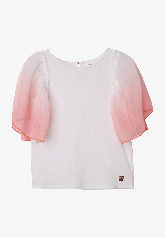 T-shirt imprimé - blanc corail