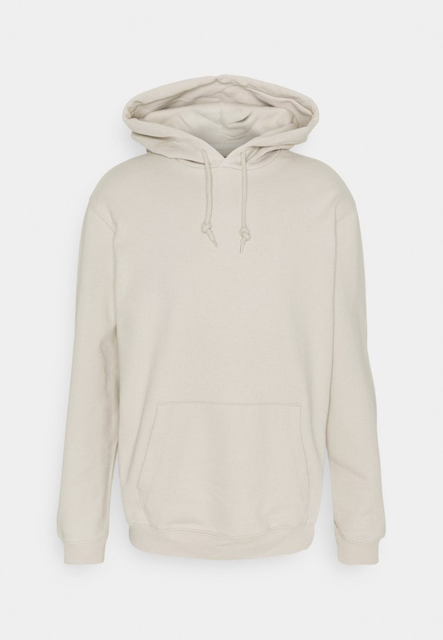 FRENCH TERRY - Hoodie - stone