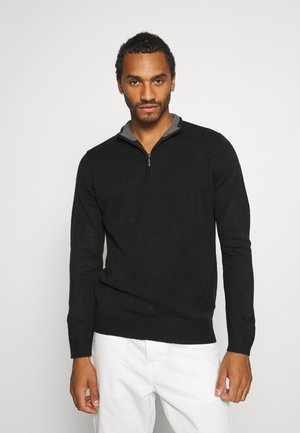 KESTER - Jumper - jet black/ dark grey marl