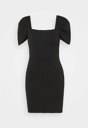 PUFF SLEEVE MINI DRESS - Robe fourreau - black