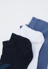 Emporio Armani - IN SHOE SOCKS 3 PACK - Socks - aviation/white/blue - 1