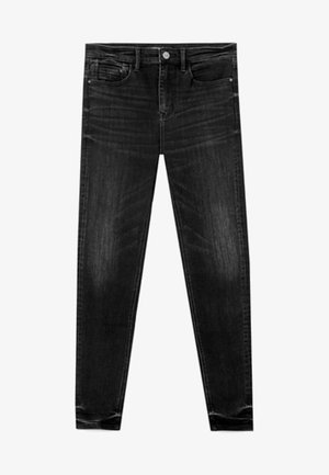 MIT HOHEM BUND - Jeansy Skinny Fit - black