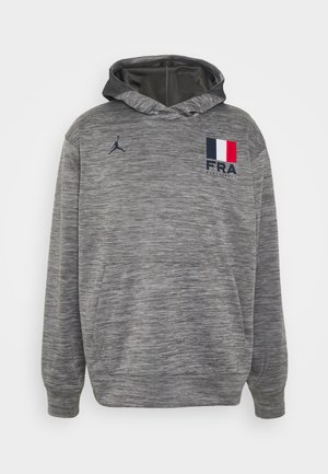 FRANCE SPOTLIGHT HOODIE - Squadra nazionale - dark grey heather/dark grey