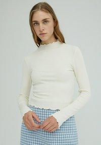 EDITED - Long sleeved top - beige - 0