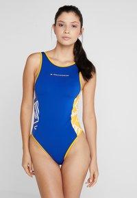 Tommy Sport - GRAPHIC BODYSUIT - trikot na gymnastiku - blue - 0
