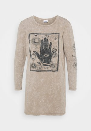 NMZODIAC WASHED - Jersey dress - feather gray/washed
