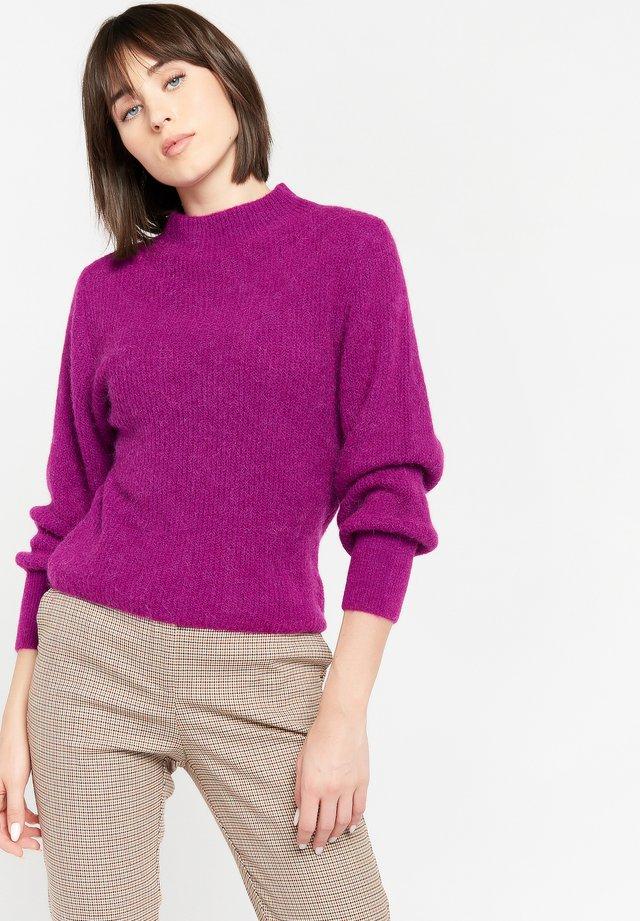 HIGH CLOSED NECK - Trui - violet vivid