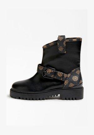 ORICAN IMPRIMÉ LOGO PEONY - Ankle boots - marron multi