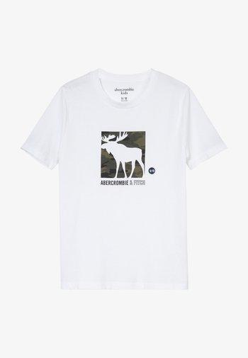 LOGO - T-shirts print - white