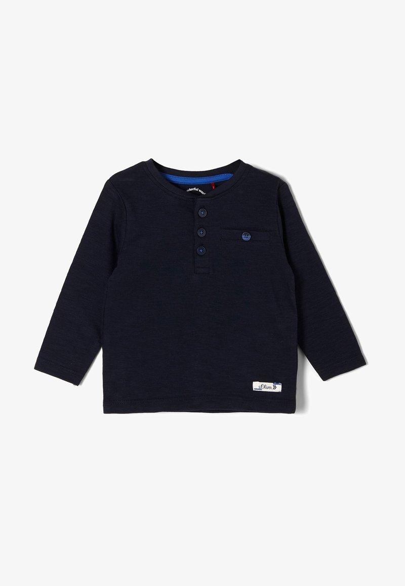 s.Oliver - MIT KNOPFLEISTE - Long sleeved top - dark blue