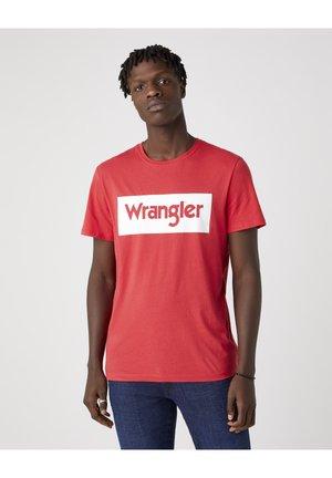 T-shirt z nadrukiem - rococco red