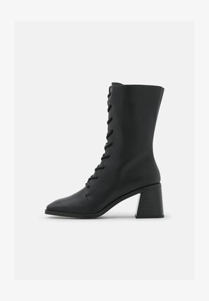 ELMA BOOT VEGAN - Lace-up boots - black dark