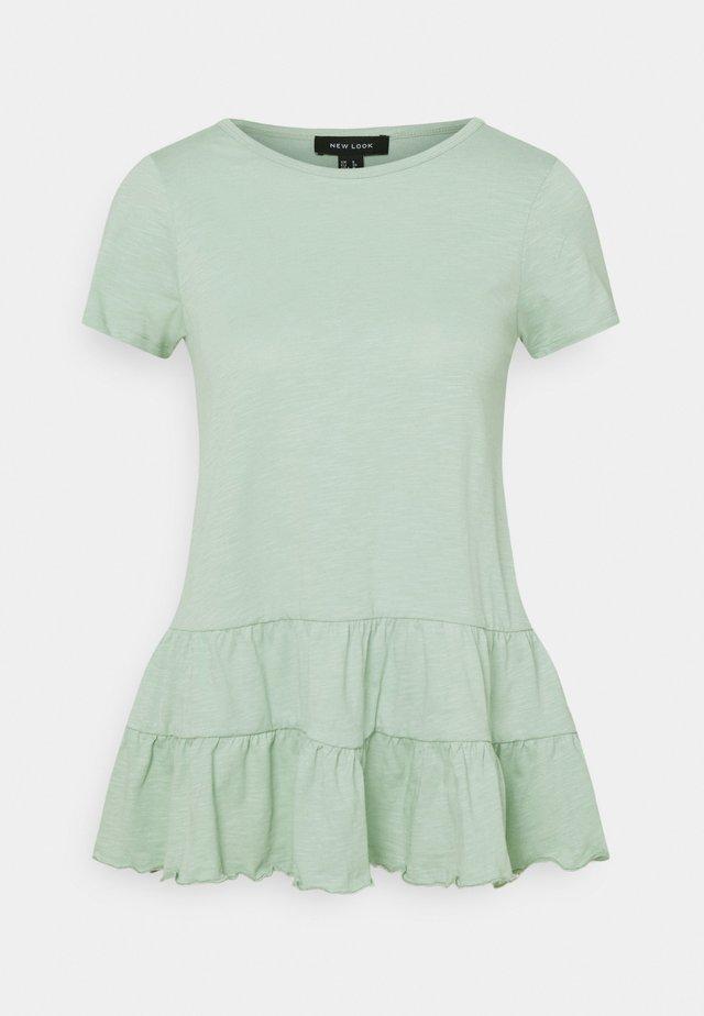 DOUBLE PEPLUM TEE - Printtipaita - green