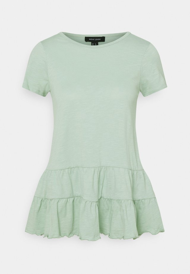 DOUBLE PEPLUM TEE - T-shirt con stampa - green