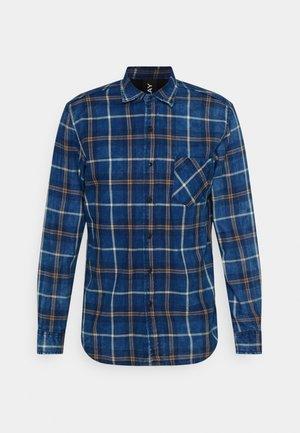 Shirt - indigo/beige/brown