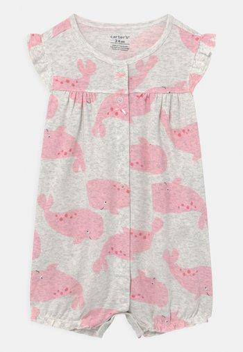 SUR WHALE - Jumpsuit - grey/pink