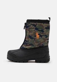 Polo Ralph Lauren - QUILO ZIP UNISEX - Winter boots - olive/orange - 0
