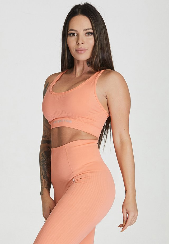 ESSENTIAL SEAMLESS - Sport BH - peach orange