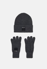 Replay - GLOVE HAT SET - Gloves - grey melange - 0