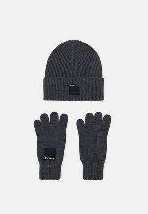 GLOVE HAT SET - Sormikkaat - grey melange