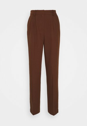 MATHILDE GØHLER SUIT PANTS - Bukse - dark brown