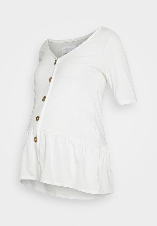 MLFLOR LIA - T-shirt imprimé - snow white