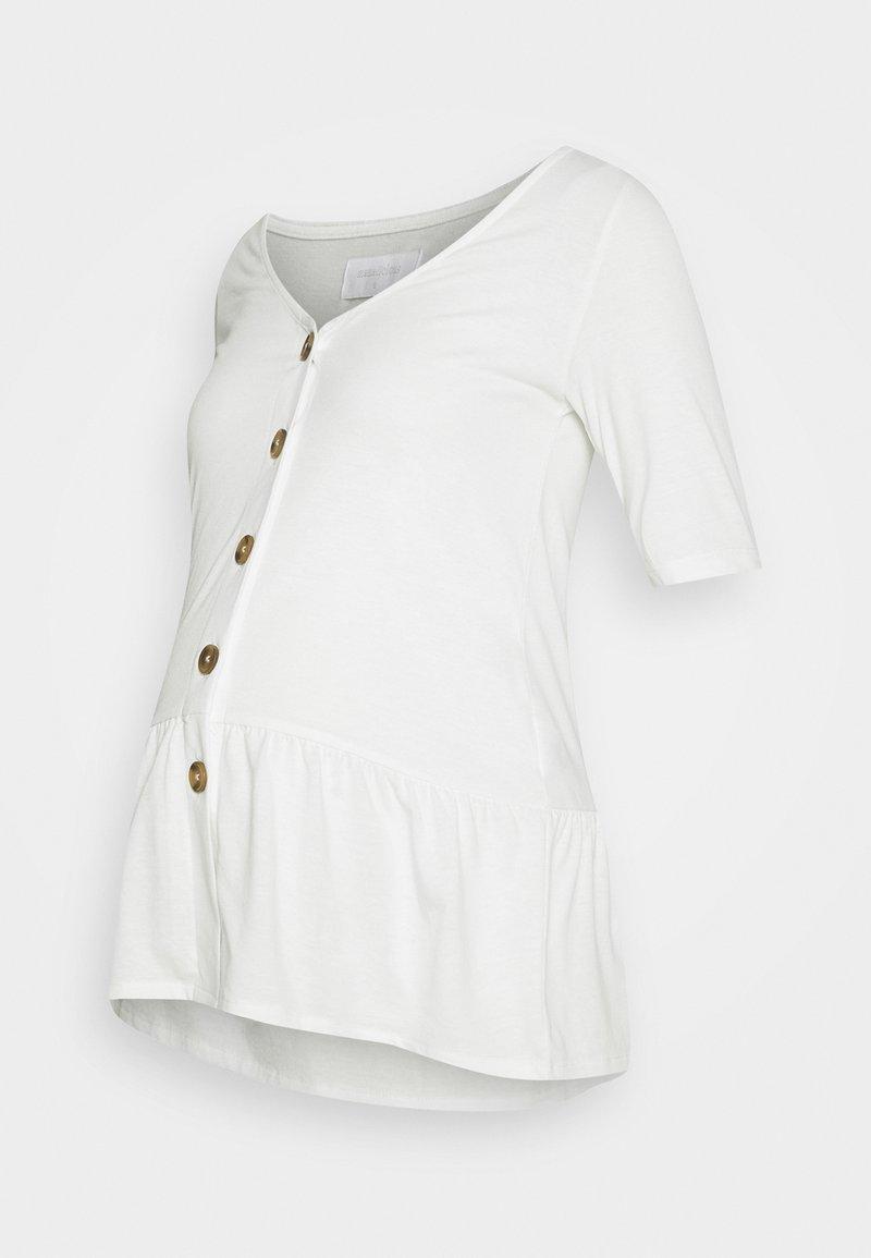 MAMALICIOUS - MLFLOR LIA - Print T-shirt - snow white