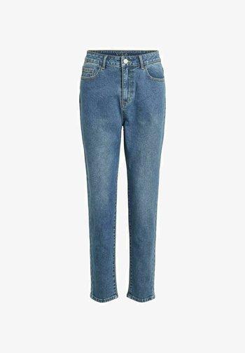 MOM HIGH WAIST - Straight leg jeans - medium blue denim