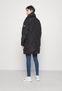 Tommy Jeans - DIAMOND QUILTED COAT - Winterjas - black - 2