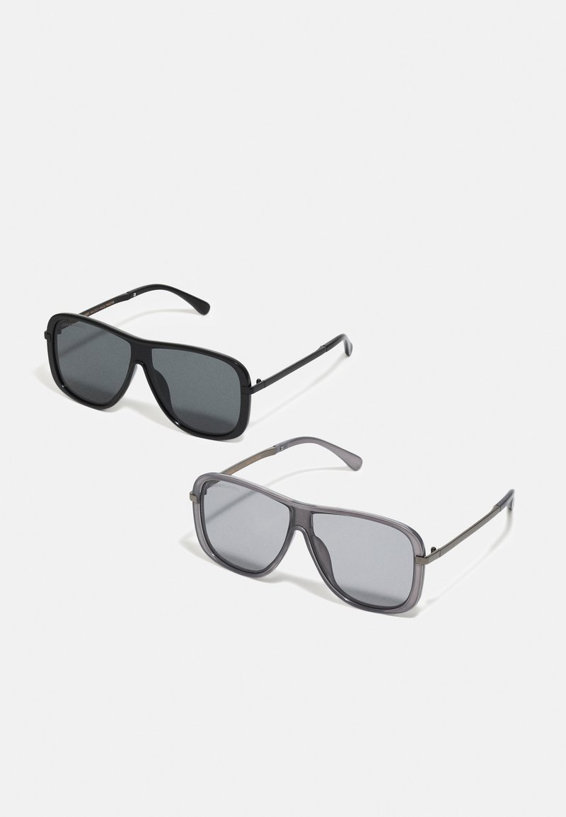 Urban Classics - SUNGLASSES MILOS 2 PACK UNISEX - Sluneční brýle - black/grey