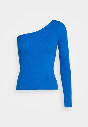 ONE SHOULDER LONG SLEEVE - Strickpullover - true blue