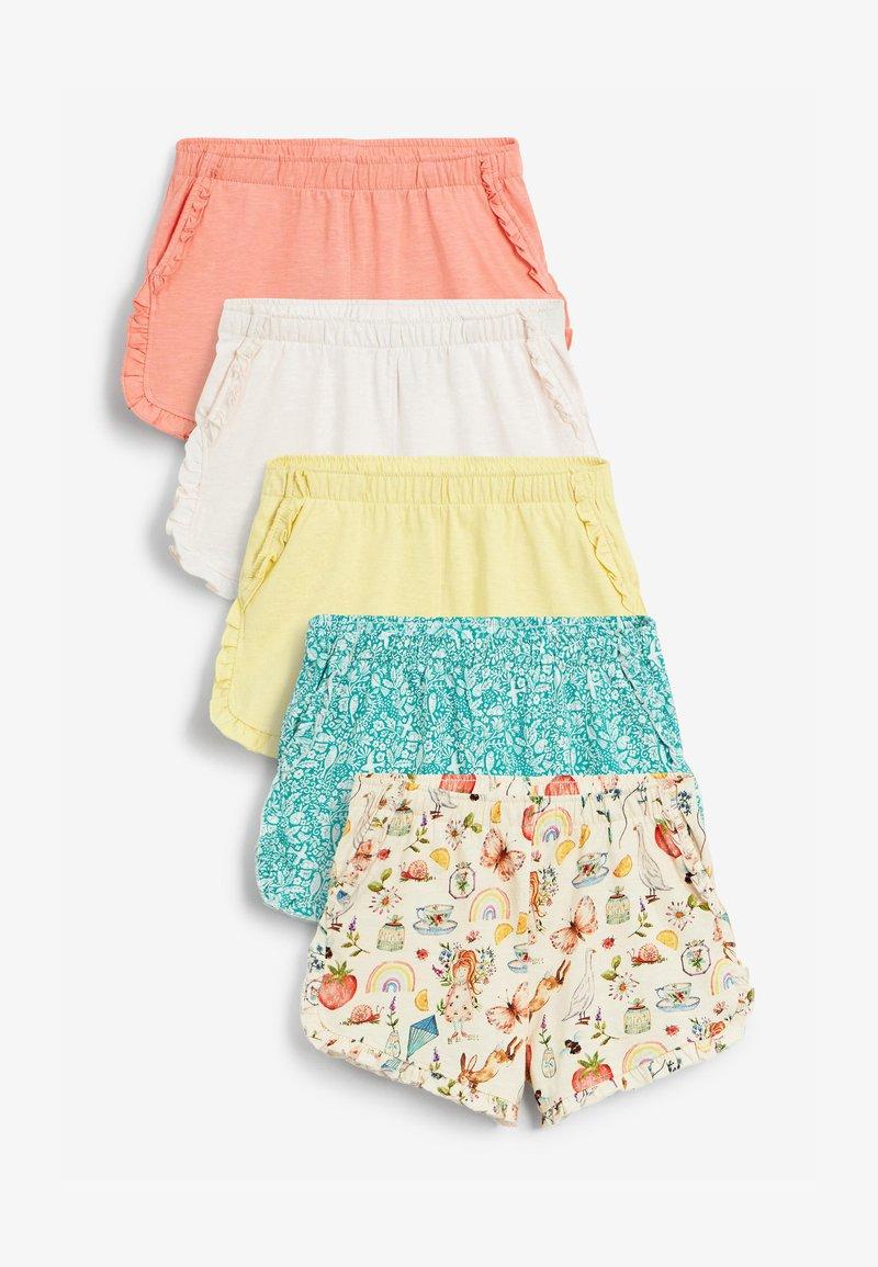 Next - 5 PACK - Shorts - orange / yellow / blue