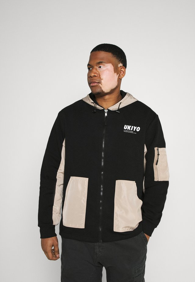 RONNY - veste en sweat zippée - black