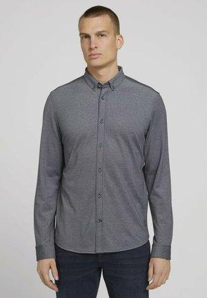 Shirt - sailor blue two tone pique