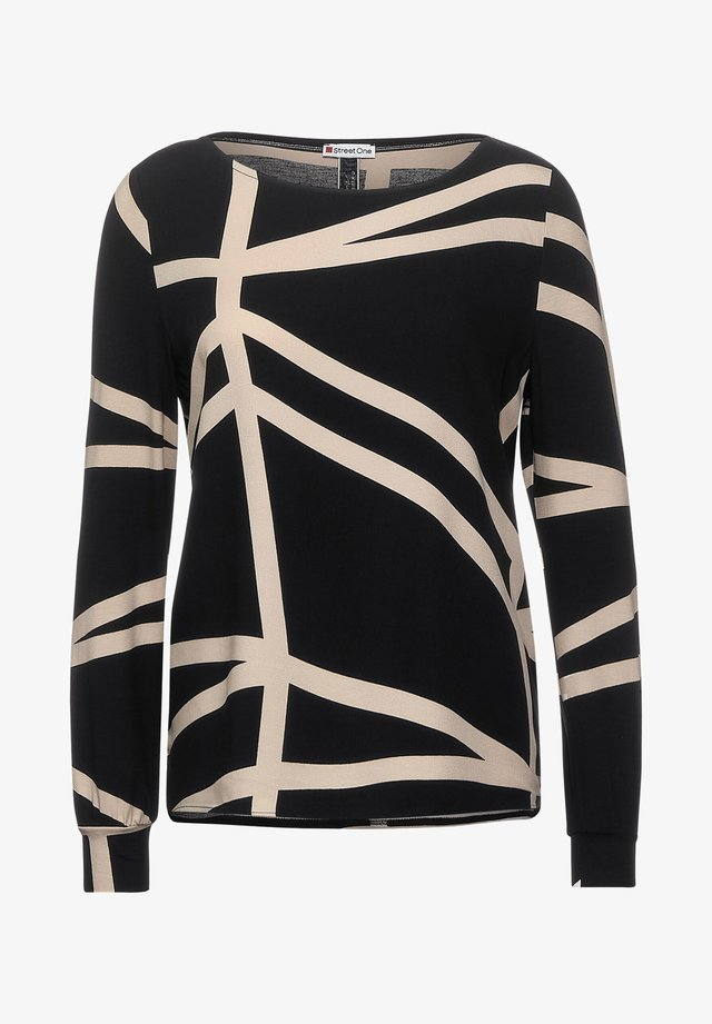MIT GRAFIK-PRINT - Long sleeved top - schwarz