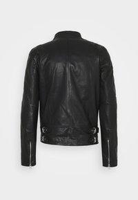Goosecraft - MADRID BIKER - Leather jacket - black - 7